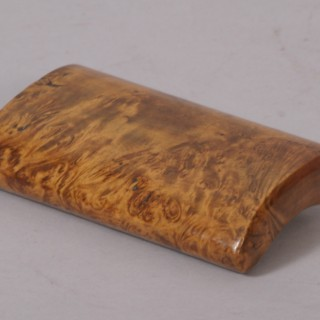 Antique Treen 19th Century Masur Birch Snuff Box