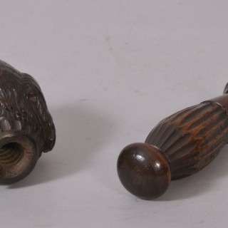 Antique Treen 19th Century Birch Dog's Head Nut Cracker