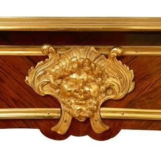 French Louis XV style gilt bronze mounted kingwood writing desk