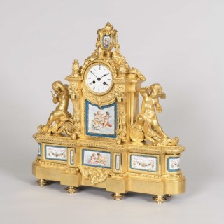 A Mantle Clock in the Louis XVI Taste By Raingo Freres, Paris