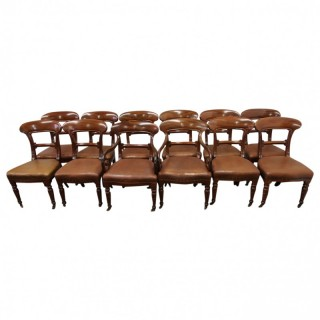 Set of 12 Scottish Victorian Mahogany Dining Chairs