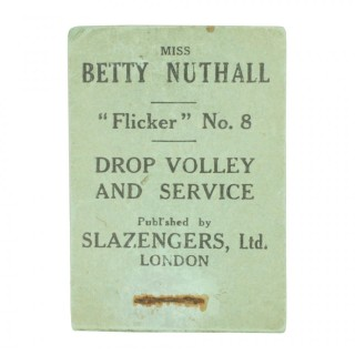 Tennis Flicker Book, Betty Nuthall