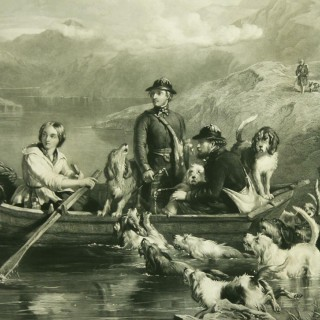 Crossing The Tay, Engraving