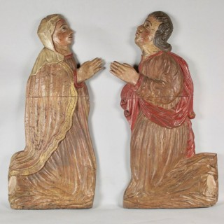 Carved Reliefs/Sculpture Of A Man And A Woman