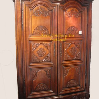 Walnut Armoire Cabinet Renaise Rennes France