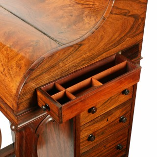 Rosewood Piano Top Davenport Desk
