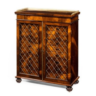 Antique collector's rosewood cabinet