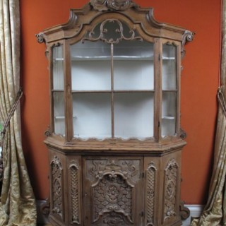 Tyrollean carved pine display cabinet. in the Dutch style. Circa: 1750
