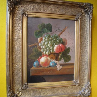Fruit Still life Oil Painting Signed J.C.de Bruin