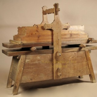 wooden mangling table washing