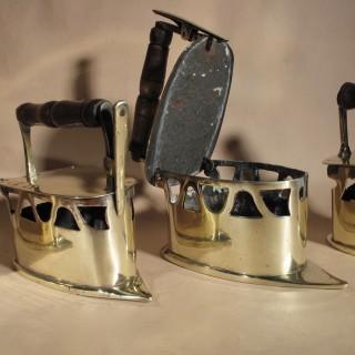 Dutch Brass Flat iron 19th century
