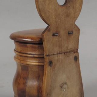A very decorative and original salt coopered box circa 1850.