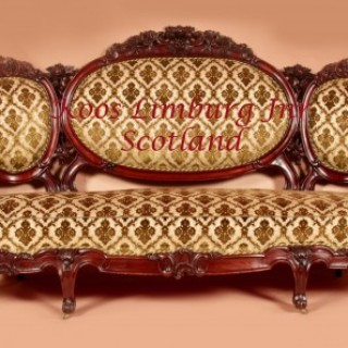 Victorian Cuba Mahogany Salon 3 Piece Suite