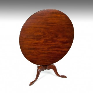 George III Mahogany Tripod Table of Large Proportions