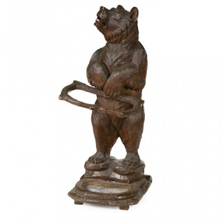 Large Black Forest Carved Bear Stick Stand