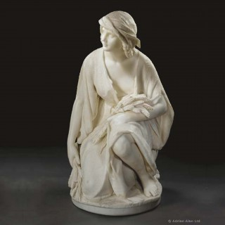 A Marble Figure of Ruth Gleaning by Romanelli