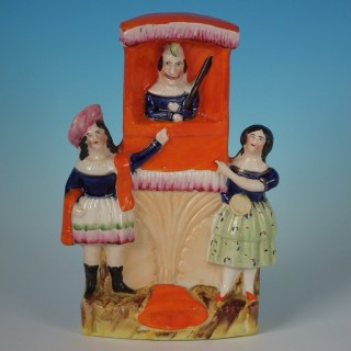 Staffordshire Pottery Punch and Judy Group