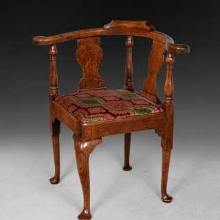 Mid 18th. century oak corner armchair