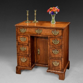 George I period Walnut Kneehole Desk