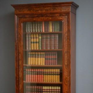 Fine Continental Flamed Mahogany Bookcase