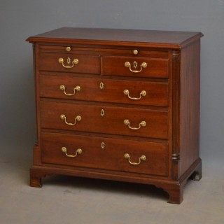 Georgian Mahogany Chest of Drawers with Brushing Slide
