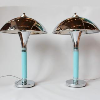 Art Deco Dome Lamps