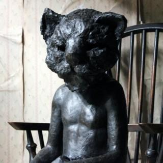 Beth Carter; Cat & Pigeon; Bronze Resin; AP 1 of 2
