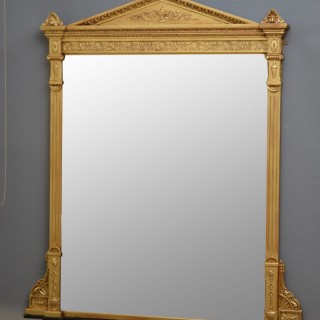 Large English Victorian Giltwood Mirror