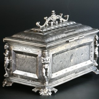 A 16th century Spanish silver chrismatorium