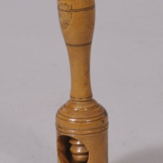 Antique Treen 19th Century Boxwood Pipe Tamper/Nut Cracker