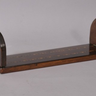 Antique Treen 19th Century Yew Wood, Rosewood and Mahogany Book Rest