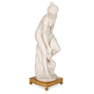 'La Baigneuse' antique marble figure of Venus, after Allegrain