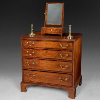 George III period Mahogany straight fronted Chest of Drawers