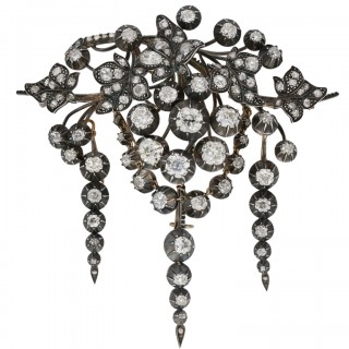 Impressive early Victorian diamond brooch, circa 1850.