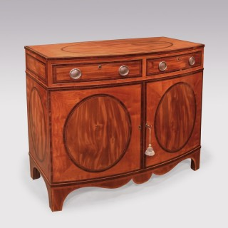 Sheraton period bow-shaped satinwood Cabinet