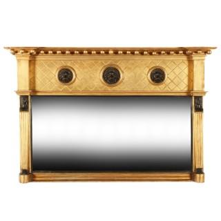 Regency Gilt Wood Overmantel Mirror