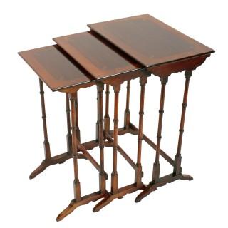 Nest of Three Edwardian Tables