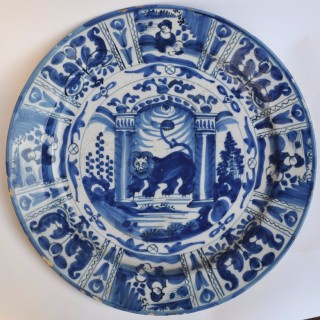 Dutch Delft Charger c.1700