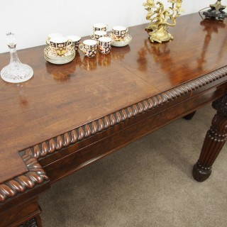 Regency Mahogany Breakfront Hall Table or Serving Table