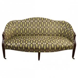 Scottish George III Mahogany and Inlaid Sofa