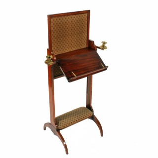 George IV Combination Music Stand, Fire Screen and Foot Rest