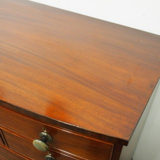 George III Mahogany Bow Fronted Chest of Drawers