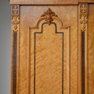 Exquisite Quality Bird's Eye Maple Wardrobe