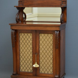 Fine Regency Mahogany Chiffonier of Narrow Proportions