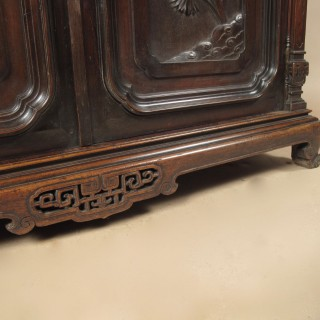 Gabriel Viardot (attributed) Aesthetic Movement Japonism Walnut Cupboard