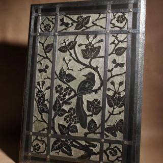 Artistic Linoleum Cut Aesthetic Movement Fire Table  Screen