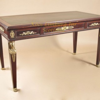 French mahogany Bureau-Plat,  writing table
