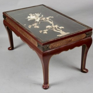 An interesting unusual oriental coffee table, Japan Meiji period