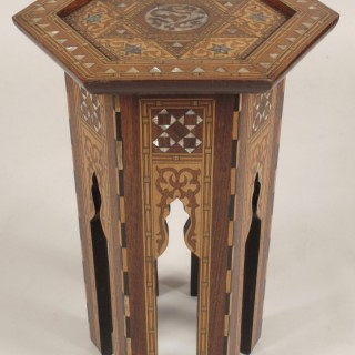Original Islamic Inlayed Table Ottoman empire.