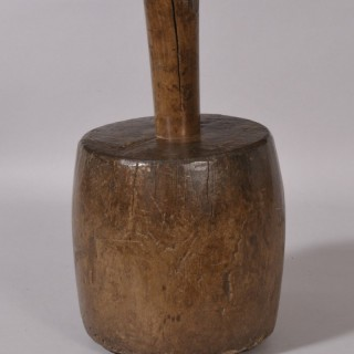 Antique Treen Georgian Large Oak Pestle